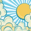Clouds with sun. — Stock Vector