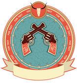 Batı sembol — Stok Vektör