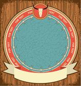Ahşap doku özgeçmişlerine batı sembolü — Stok Vektör