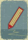 Crayon background.grunge symbole d'écriture sur vieux papier texture — Vecteur