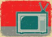 Na stary plakat retro telewizji symbol .grunge — Wektor stockowy