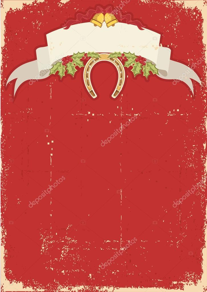 красная открытка: