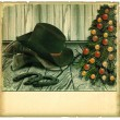Royalty-Free Stock Photo: Vintage Cowboy christmas card.American background on old paper f