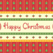 Christmas decoration background with horseshoes and text — Imagen vectorial