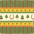 Vintage christmas decoration on old paper background.Vector gree — Stock Vector