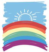 Ilustración .vector gay abstact — Vector de stock