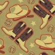 Cowboy seamless pattern for background.Vintage illustration — Stock Vector