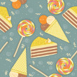 Candies seamless pattern.Vector sweets color background — Stock Vector