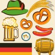 Oktoberfest festival objects for design isolated for design — Stock Vector