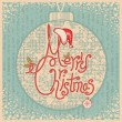 Merry Christmas card with text.Vintage greeting illustration — Stock Vector