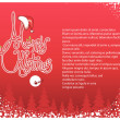 Red Merry Christmas background card for text.Vector illustration — Stock Vector