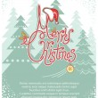 Merry Christmas background card for text. — Stock Vector
