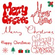 Merry Christmas text. — Imagen vectorial