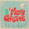 Vintage Christmas card with text on old paper  — Stock Vector