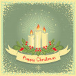 Christmas card with candles — Stock Vector
