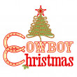 Cowboy Christmas text — Stock Vector