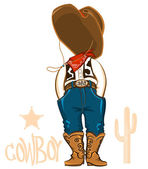 Cowboy clothes isolated on white. — Stock Vector