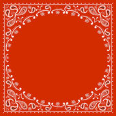 Red cowboy bandanna — Stock Vector