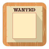 Wanted poster icon.Vector flat style design — Stock Vector