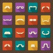 Set of mustaches .Vector retro icons — Stock Vector #43486599