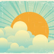 Sky with beautifull clouds.Vector vintage cloudscape — Stock Vector #6049778