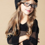 Fashion kid girl — Stock Photo
