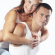 Beautiful athletic couple — Stock Photo #16834399