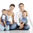Happy family — Stock fotografie #18728343