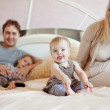 Royalty-Free Stock Photo: Happy family at home