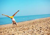 Sports at beach — Stock Photo