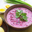 Cold beet soup - Stock fotografie