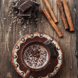 Cocoa and chocolate - Stock Photo