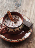 Cocoa and chocolate — Stock Photo