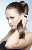 Strong healthy hair — Stock Photo