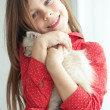 Child and kitten — Stock Photo #27445281