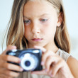 Little photographer — Stock Photo