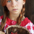 Redheaded child — Stock Photo