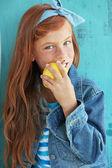 Redheaded child — Stock Photo