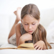 Child reading book — Stock Photo