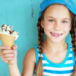 Child with ice cream — Stock Photo