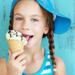 Child with ice cream — Stock Photo #34809221
