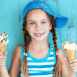 Child with ice cream — Stock Photo #34809249