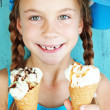 Child with ice cream — Stock Photo #34809279