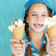 Child with ice cream — Stock Photo #34809295