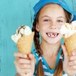 Child with ice cream — Stock Photo #34809295