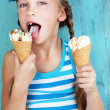 Child with ice cream — Stock Photo #34809325
