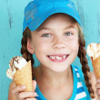 Child with ice cream — Stock Photo #34809339