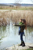 Mother with child outdoor — Stock Photo