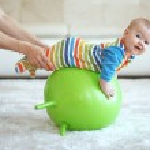 Baby gymnastic — Stock Photo
