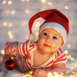 First Christmas — Stock fotografie